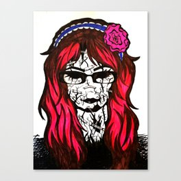 My Cracked Mask Canvas Print