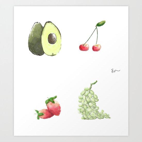 fruits that i love Art Print