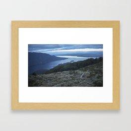 //01-04 LAKE TE ANAU Framed Art Print