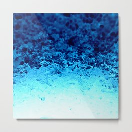 Blue Crystal Ombre Metal Print