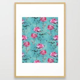 Waterlily dragonfly Framed Art Print