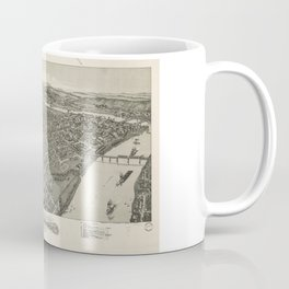 Aerial View of Parkersburg, West Virginia (1899) Coffee Mug