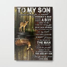 Poster TO MY SON Metal Print