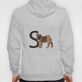 S is for Shar Pei Dog Hoody