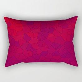 Mosaic Red Red Wine Rectangular Pillow