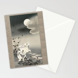 Rabbit and the Moon Stationery Cards