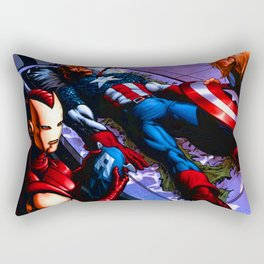 crushing defeat captain Rectangular Pillow