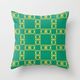angle yellow & green Throw Pillow
