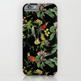 Hummingbirds Tropical Paradise iPhone Case