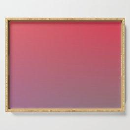 EVENING - Minimal Plain Soft Mood Color Blend Prints Serving Tray