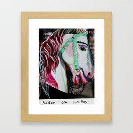 caballo Framed Art Print
