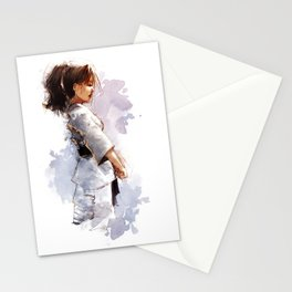 Karate Girl Stationery Cards
