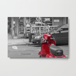 red bike Metal Print