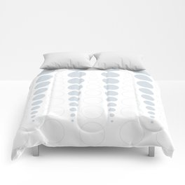 Up and down polka dot pattern in white and a pale icy gray Comforters