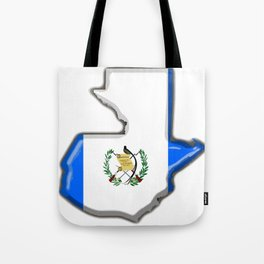 Guatemala Map with Guatemalan Flag Tote Bag