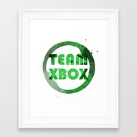 xbox Framed Art Prints featuring Team XBox by Bradley Bailey