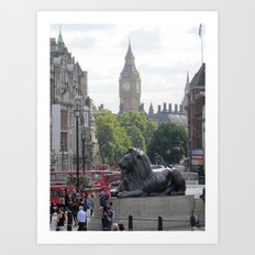 Trafalgar To Big Ben Art Print