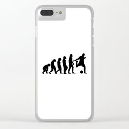 Football Evolution (white background) Clear iPhone Case