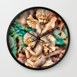 Garden Cherubs Wall Clock