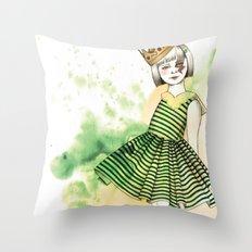 Little Queen Throw Pillow