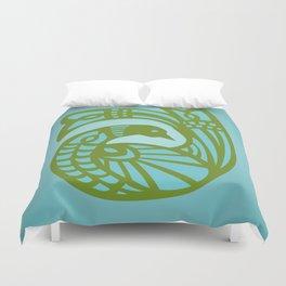 Marion Bird — Bluegreen Duvet Cover
