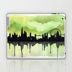 London Skyline 2 Lime Laptop & iPad Skin