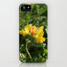 Gul blomst iPhone Case