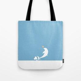 Ocean Dolphin Blue Heart Love Tote Bag