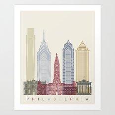 Philadelphia skyline poster Art Print
