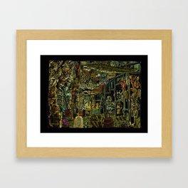 Skeleton Key Lighthouse 02. Treasures from the Briny Deep Framed Art Print