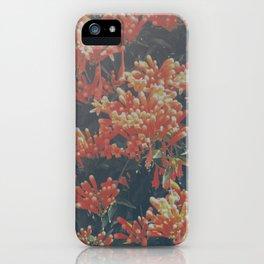 floral print orange iPhone Case