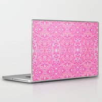 keith haring Laptop & iPad Skins featuring Pink Haring by Liz Nehdi