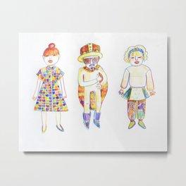 Shimokitazawa Trio Metal Print