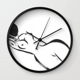 Abstract Woman Art Wall Clock