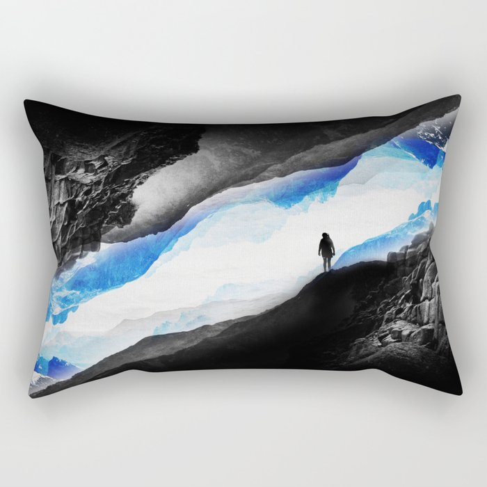 Vision of the frosty mountains Rectangular Pillow