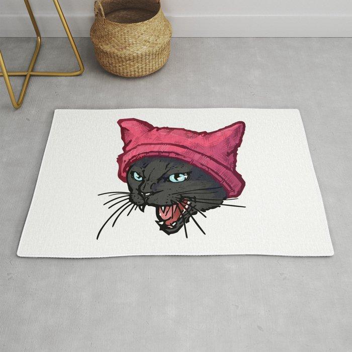 The Cat In Hat Black Rug