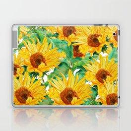 sunflower pattern Laptop & iPad Skin