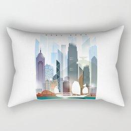 The city skyline of Hong Kong Rectangular Pillow