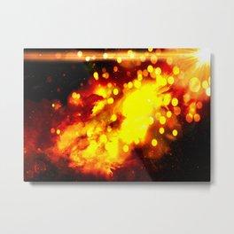 Flammes ensoleillées Metal Print