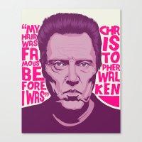 christopher walken Canvas Prints featuring Christopher Walken by Mike Wrobel