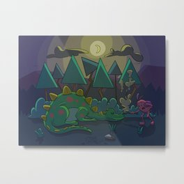 Dinasaur sleeping Metal Print