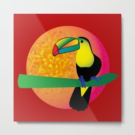 Toucan - Red Metal Print
