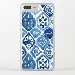 Arabesque tile art Clear iPhone Case