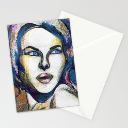 Pop Art Woman Stationery Cards