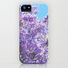 Jacaranda in bloom iPhone Case