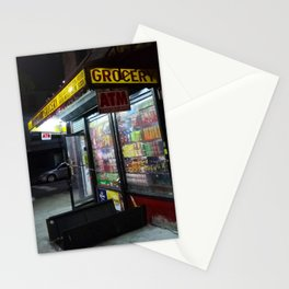 Old school bodega at night (2018) from Roberta Winters Photography Stationery Cards