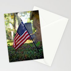 Solitary flag Stationery Cards