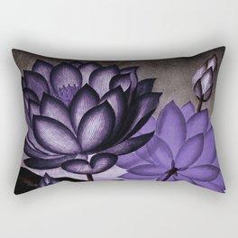 Deep Purple Sacred Egyptian Bean Temple of Flora Rectangular Pillow