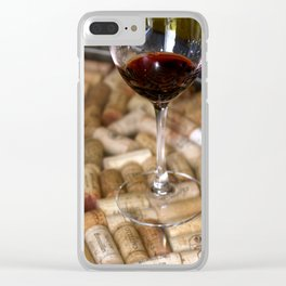 Wine Cork Clear iPhone Case