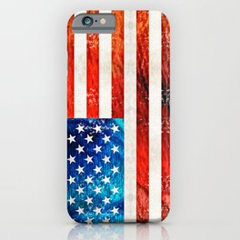 American Flag Art - Old Glory - By Sharon Cummings iPhone Case